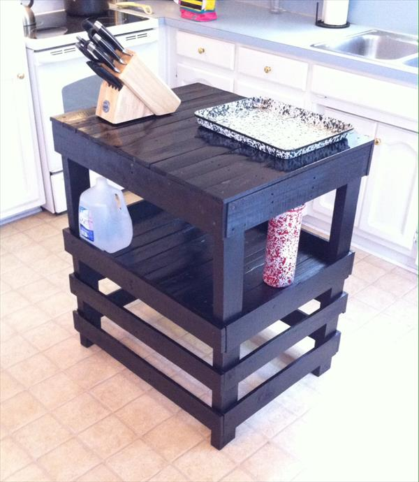 diy reclaimed pallet kitchen island