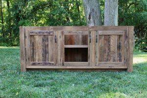 DIY Rustic Pallet Vanity/ Paneled Doors