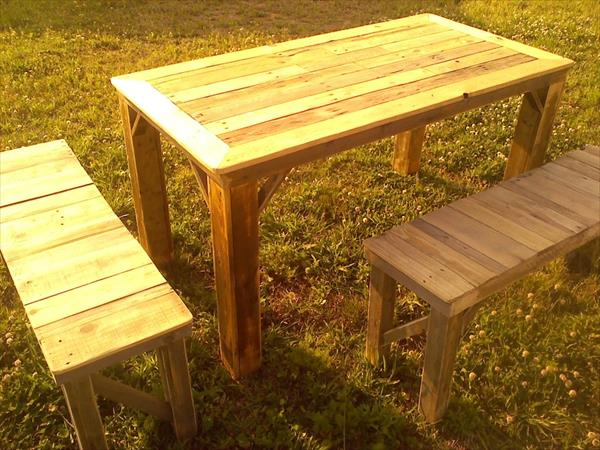 diy table with benches