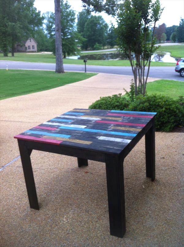 upcycled pallet farmhouse table