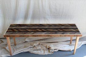 resurrected pallet chevron coffee table