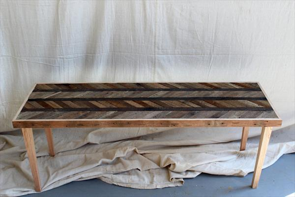 resurrected pallet chevron coffee table
