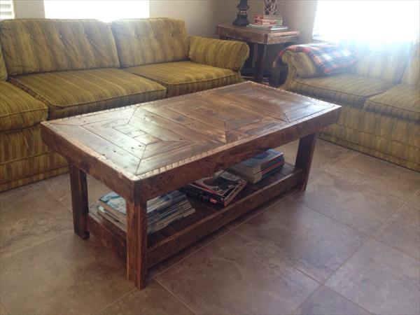 Diy Pallet Handmade Coffee Table Pallet Furniture Plans
