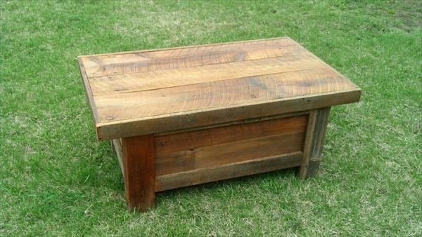 repurposed pallet barn wood coffee table