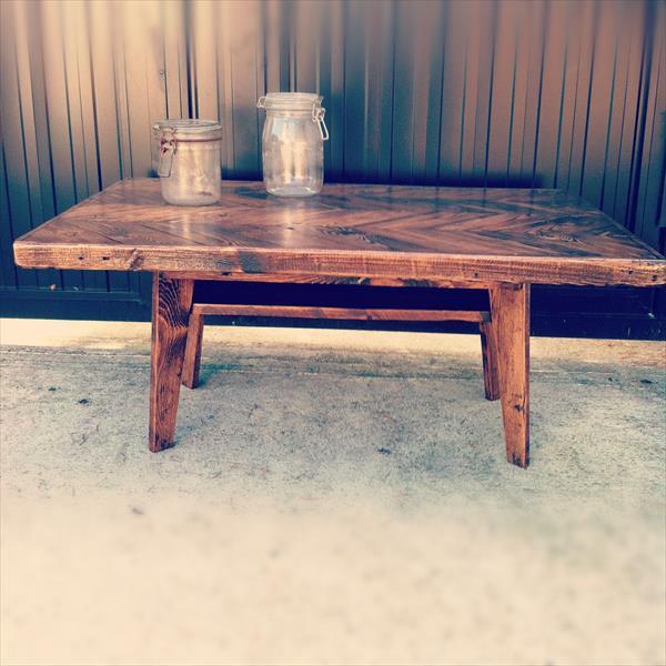 diy pallet chevron coffee table