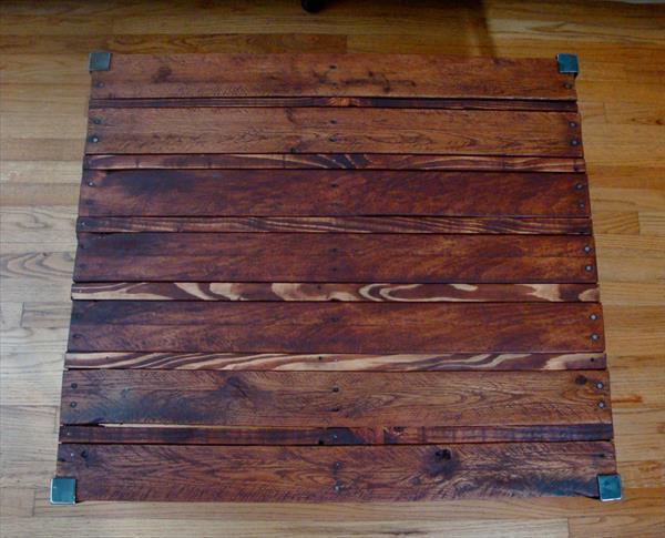 industrial pallet metal coffee table