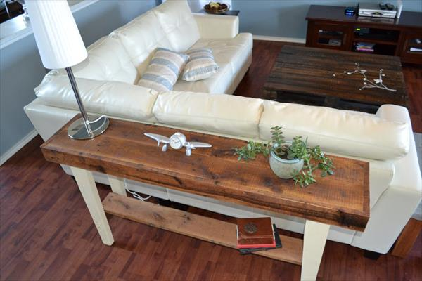 recycled pallet furniture sofa side table