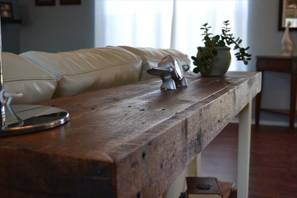 diy vintage pallet sofa side table