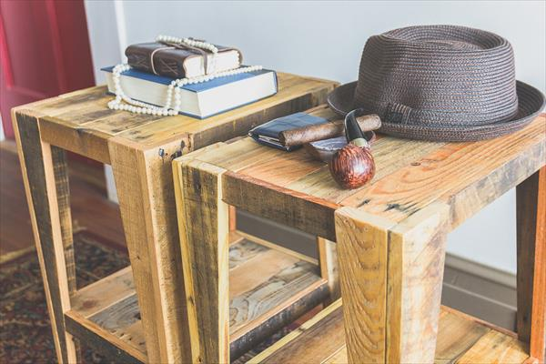upcycled pallet nightstand