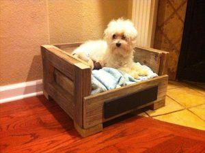 handcrafted pallet dog bed