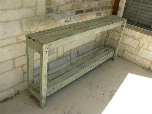 diy reclaimed wood sofa table diy pallet entryway table diy distressed ...
