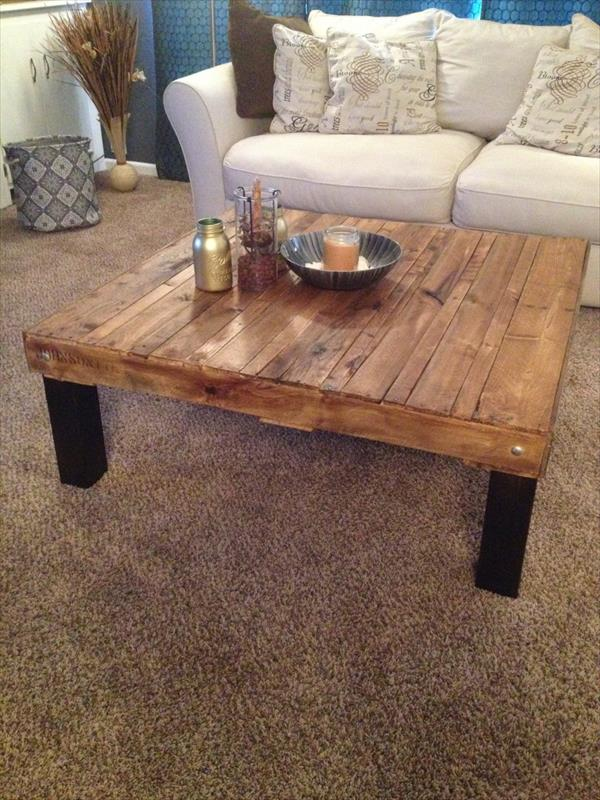 Diy Pallet Tall Coffee Table Pallet Furniture Plans