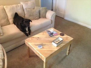 DIY Pallet Diagonal Top Coffee Table