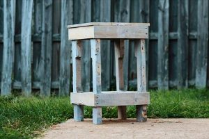repurposed pallet wood nightstand and side table