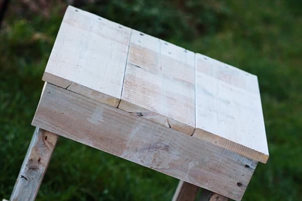 upcycled pallet wood nightstand and end table