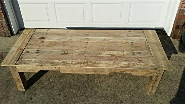reclaimed pallet occasional coffee table