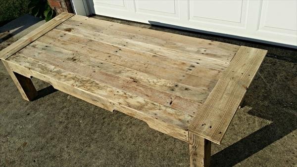 upcycled pallet occasional coffee table