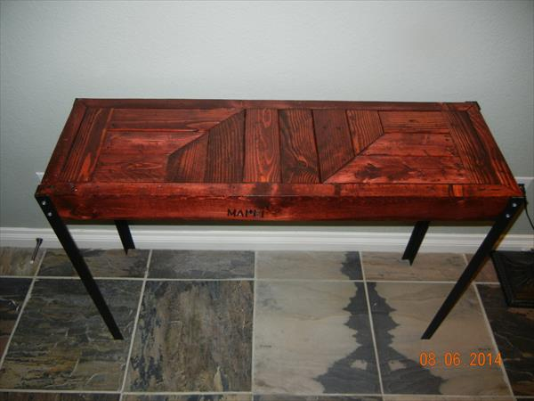 recycled pallet industrial table