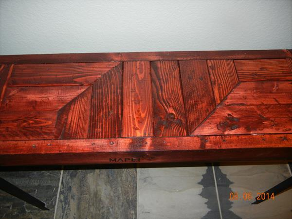 repurposed pallet industrial table