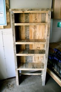 upcyclecd pallet rustic bookshelf