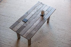 Reclaimed Pallet Wood Rustic Coffee Table