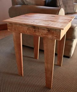 Side Table from Wooden Pallets