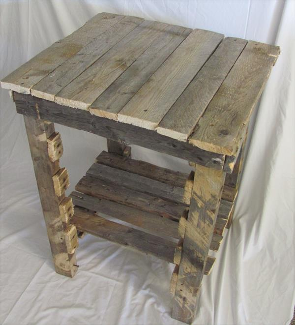 Pallet Square Side Table End Table Furniture Plans