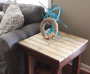 Pallet Square Side Table/ End Table