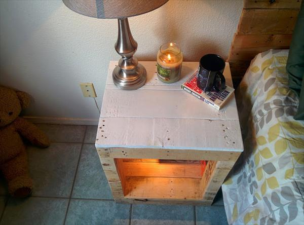 reclaimed pallet nightstand
