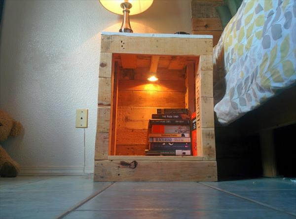Recycled pallet nightstand pallet furniture plans diy pallet nightstand solutioingenieria Choice Image