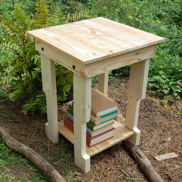 Recycled side table nightstand end table pallet for Pallet end table