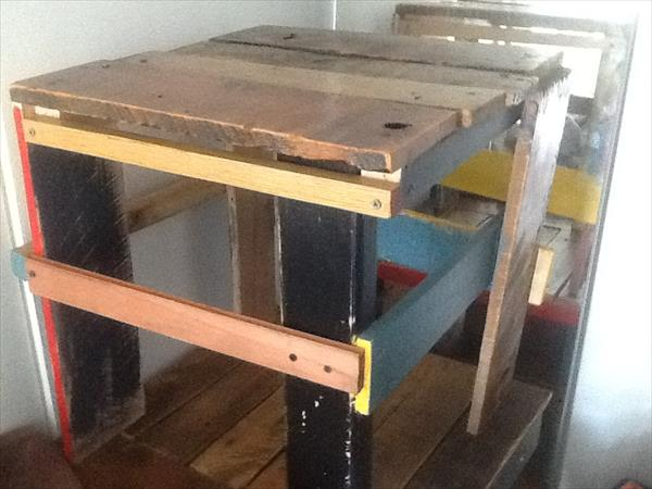 diy pallet stool and side table