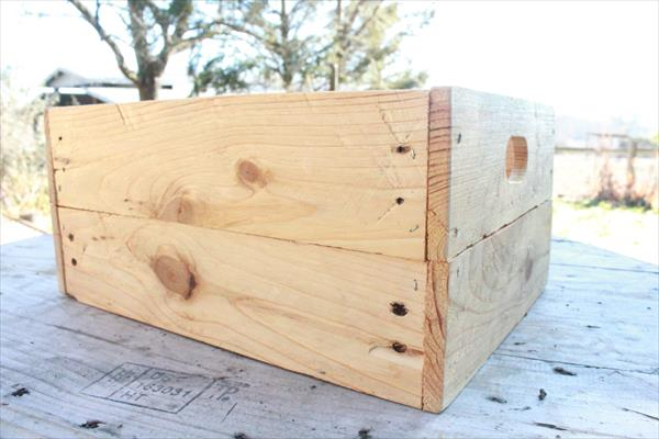 recycled pallet storage crate