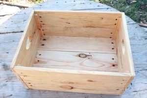 upcycled pallet storage crate