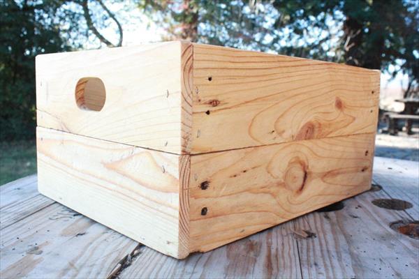 handcrafted pallet storage
