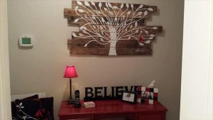 Pallet Tree Painting: Pallet Wall Art