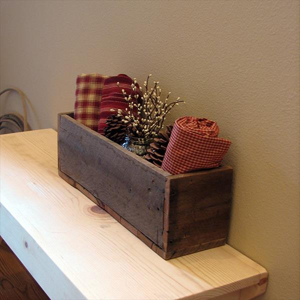 diy pallet wood caddy