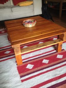 Recycled Pallet Wood Stained Coffee Table
