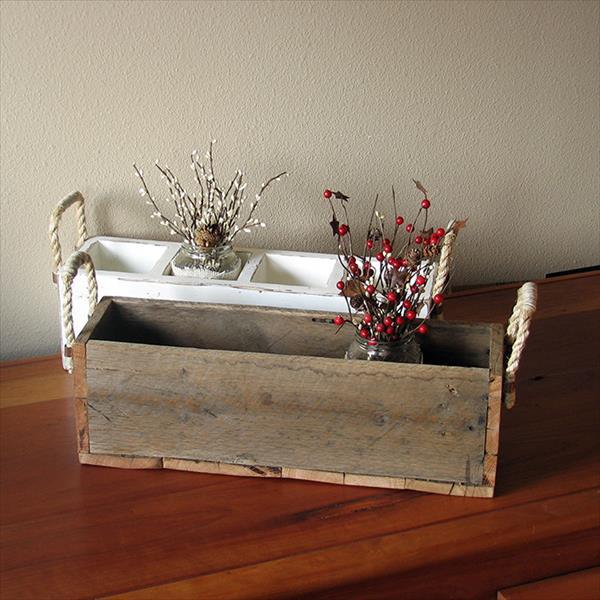 handmade diy pallet storage caddy