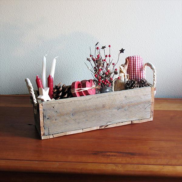 diy pallet utensil box