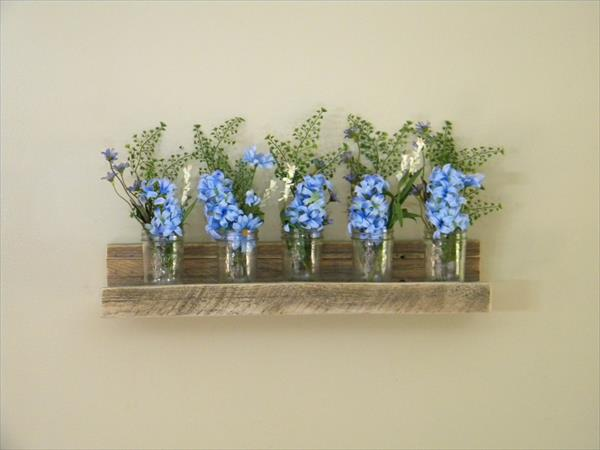 recycled pallet floating shelf