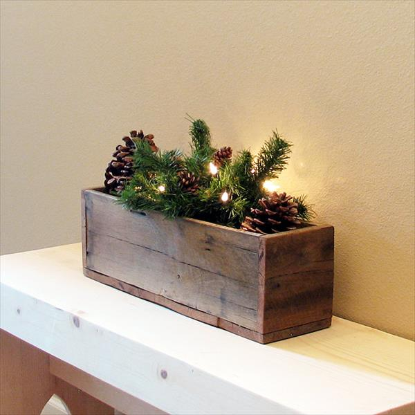 handcrafted rustic pallet organizer