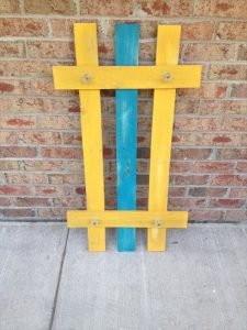 recycled pallet colorful coat rack