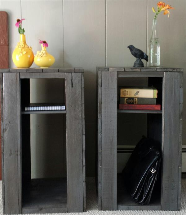 diy pallet side table and nightstand