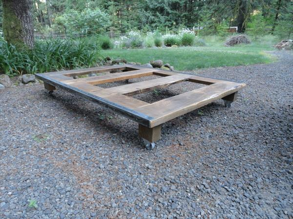 ... pallet platform bed diy rustic farmhouse double bed pallet platform