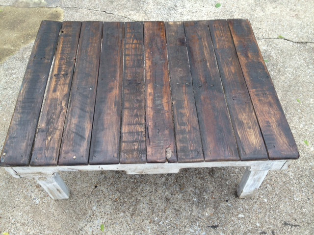 recycled pallet homely coffee table