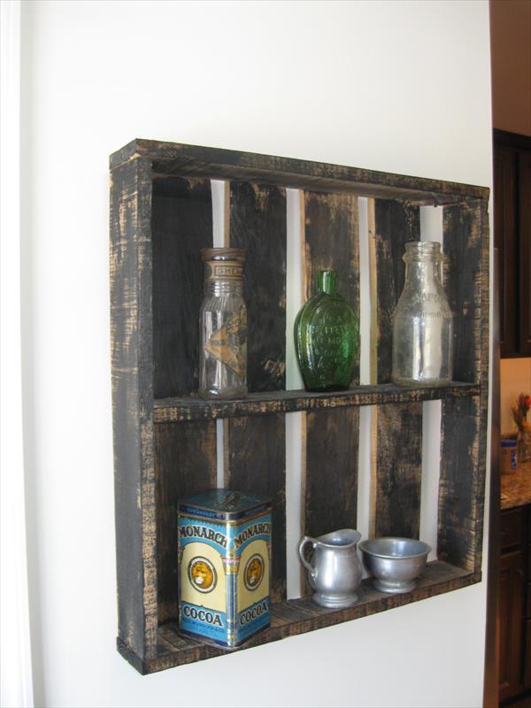 handmade pallet rustic shelves