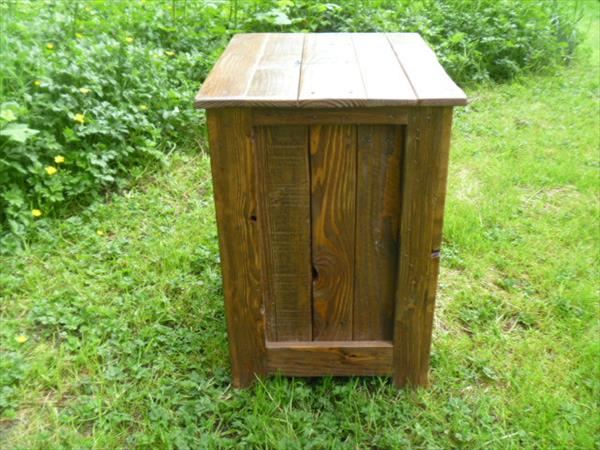 upcycled pallet nightstand and floor cabinet