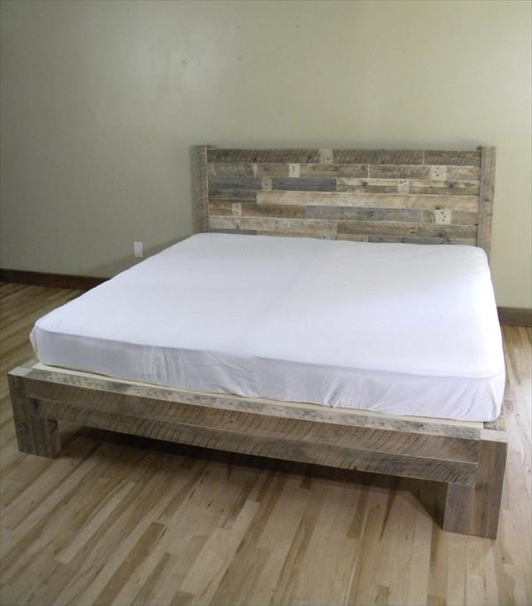 diy pallet king size bed diy pallet bed diy reclaimed wooden pallet