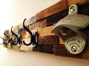 DIY Pallet Coat Rack with Bottle Opener